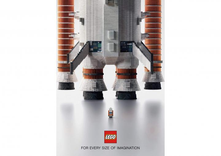 Spaceship, Empire State and Dragon - LEGO
